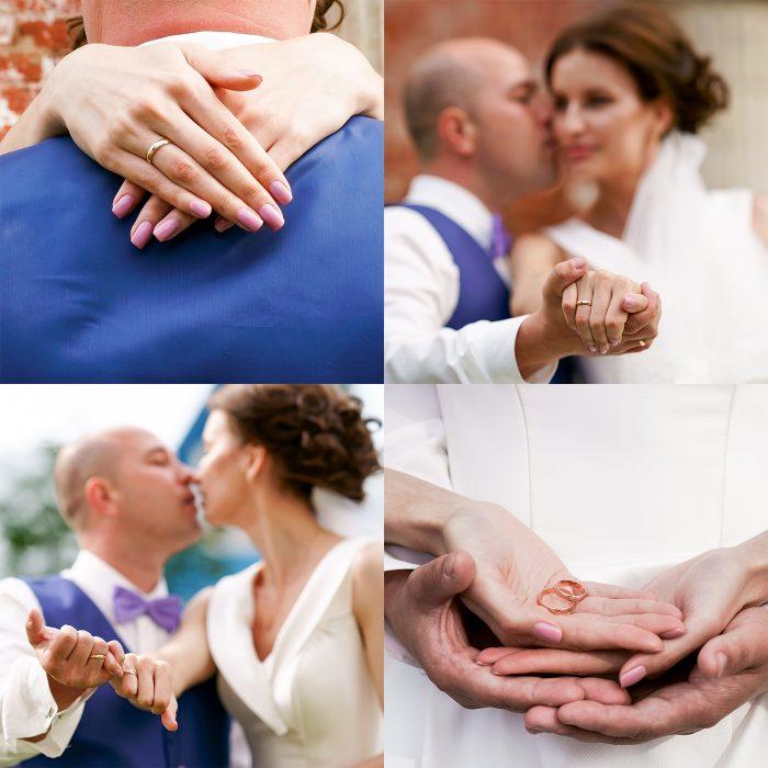 Свадебный коллаж с кольцами