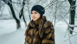 Зимняя фотосессия в шубе