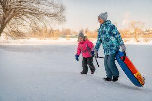 Зимняя фотосессия с детьми