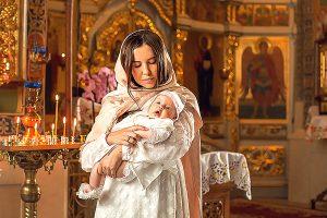 Крещение мама и малыш